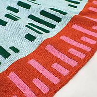 Детское одеяло, вязаный, разноцветный, 120x150 см