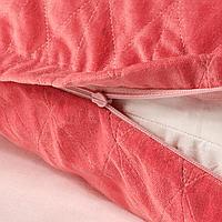 Чехол на подушку, розовый, 40x65 см