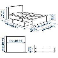 Каркас кровати+2 кроватных ящика, белый, Леирсунд, 90x200 см