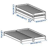 Штабелируемые кровати с 2 матрасами, сосна, Хусвика жесткий, 80x200 см