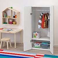Шкаф платяной, белый, белый, 60x50x128 см