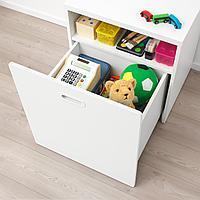 Модуль для игрушек, на колесиках, белый, белый, 60x50x64 см
