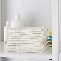 Полотенце, белый, 30x30 см