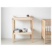 Пеленальный стол, бук, белый, 72x53 см