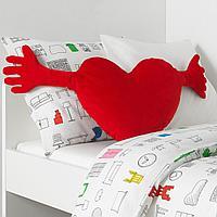 Подушка, красный, 40x101 см