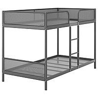 Каркас 2-ярусной кровати, темно-серый, 90x200 см