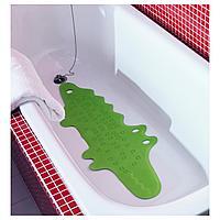 Коврик в ванну, крокодил зеленый, 33x90 см