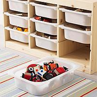Комбинация д/хранения+контейнеры, светлая беленая сосна, белый, 94x44x52 см