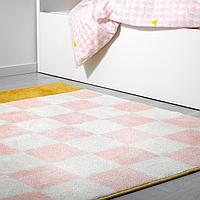 Ковер, длинный ворс, розовый, 133x140 см