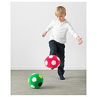 Мягкая игрушка, зеленый футбольный, зеленый