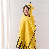 Полотенце с капюшоном, тигр, желтый, 70x140 см