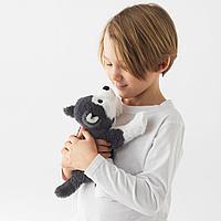Мягкая игрушка, собака, сибирский хаски, 26 см