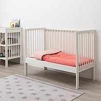 Кроватка детская, белый, 60x120 см