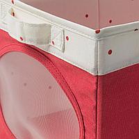 Коробка, светло-красный, 25x37x22 см
