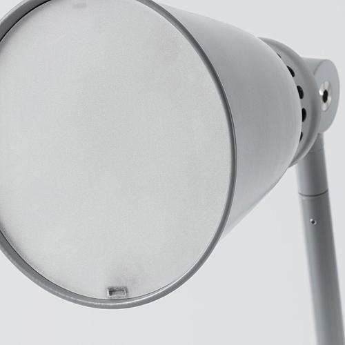 Рабочая лампа, светодиодная, серый