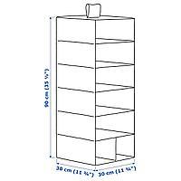 Модуль для хранения/7 отделений, розовый, 30x30x90 см