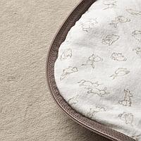 Спальный мешок, бежевый, орнамент «кролики», 0-6