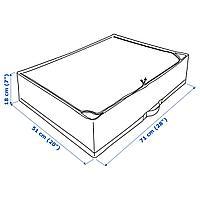 Сумка для хранения, белый/серый, 71x51x18 см