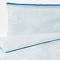 Пододеяльник, наволочка д/кроватки, бирюзовый, 110x125/35x55 см