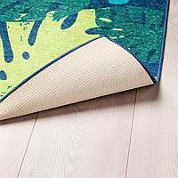 Ковер безворсовый, лист, зеленый, 133x160 см