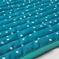Одеяло/плед, орнамент «фрукты/точки», синий, 96x96 см