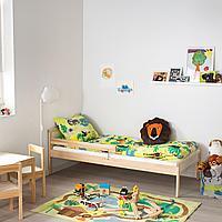 Каркас кровати с реечным дном, бук, 70x160 см