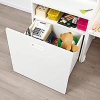 Стол с отделением для игрушек, белый, белый, 150x50x128 см
