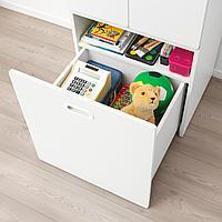 Гардероб с отделением д/игрушек, белый, белый, 60x50x192 см