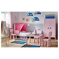 Шкаф платяной, светло-розовый, 80x139 см