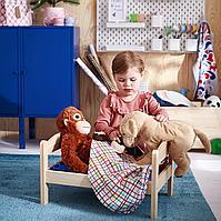 Куколн кровать с компл пост белья, сосна, разноцветный