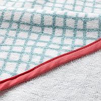 Полотенце с капюшоном, бирюзовый, красный, 80x80 см