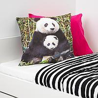 Подушка, Панда разноцветный, 50x50 см