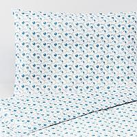 Пододеяльник, наволочка д/кроватки, орнамент «черника», 110x125/35x55 см