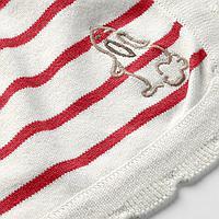 Одеяло детское, в полоску, белый/красный, 80x100 см