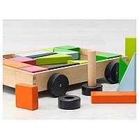 24 кубика с тележкой