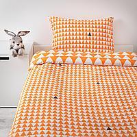 Пододеяльник и 1 наволочка, светло-оранжевый, 150x200/50x70 см