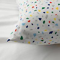 Пододеяльник и 1 наволочка, белый, мозаичный орнамент, 150x200/50x70 см