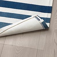 Ковер безворсовый, темно-синий, 80x160 см