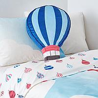 Подушка, синий, 49x36 см