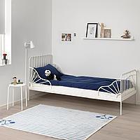 Раздвижная кровать с реечным дном, белый, 80x200 см