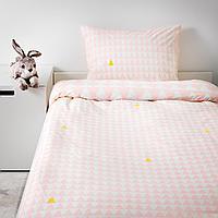 Пододеяльник и 1 наволочка, светло-розовый, 150x200/50x70 см