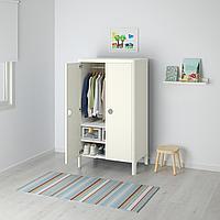 Шкаф платяной, белый, 80x139 см
