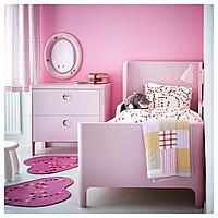 Комод с 2 ящиками, светло-розовый, 80x75 см