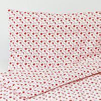 Пододеяльник, наволочка д/кроватки, орнамент «брусника», 110x125/35x55 см