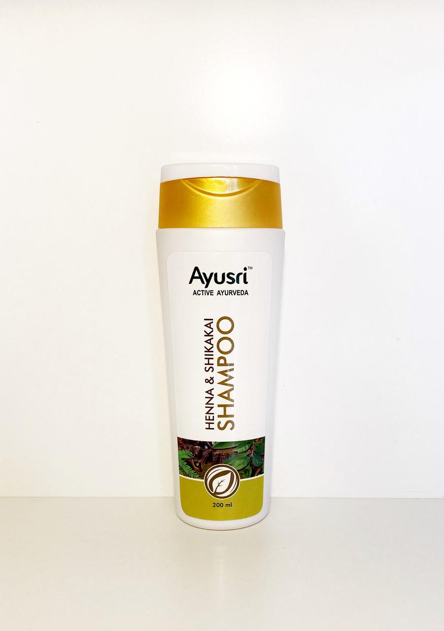 Аюрведический шампунь для волос Хна & Шикакай, 200 мл, Ayusri