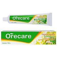 Содержит натуральные экстракты трав Зубная паста-Orecare Chinese Herbal Toothpaste Тяньши