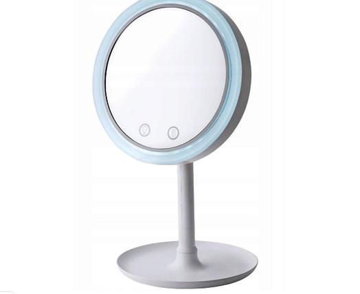 Зеркало настольное с вентилятором и подсветкой от USB, фото 2
