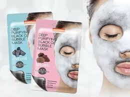 Маска для лица кислородная вулканическая Purederm Deep Purifying Black O2 Bubble Mask Volcanic
