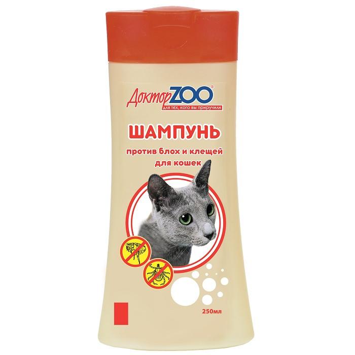 Шампунь Доктор ZOO для кошек против блох и клещей