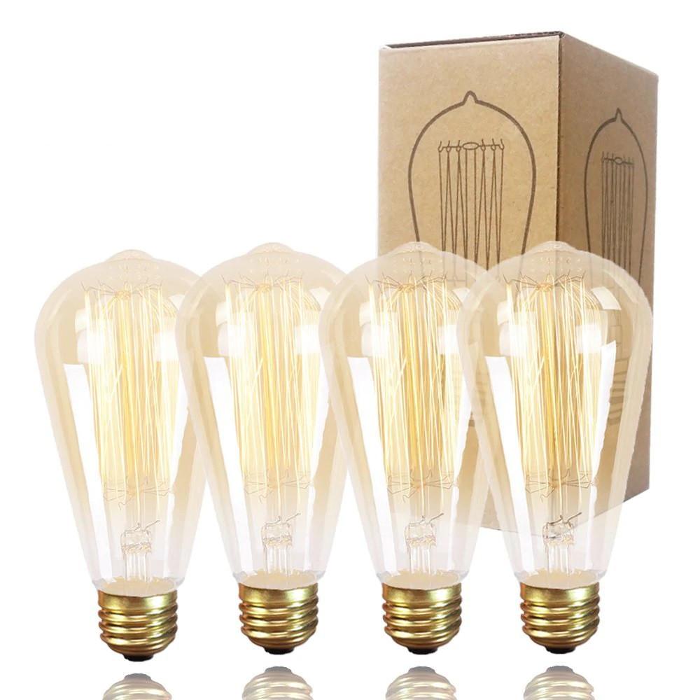 Лампа Эдисона ST64 6W  E27 2200K  85-265V